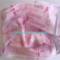 100/% Cotton Mask Fabric Cotton Breast Cancer Print Fabric Safety Non-irritating teusable Mask Fabric for face homemade face Mask fabric