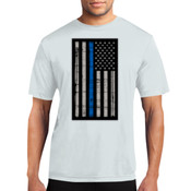 Thin Blue Line Flag Performance Tee - % of proceeds will benefit Backstoppers