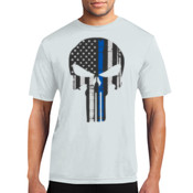 Punisher Thin Blue Line Performance Tee - % of proceeds will benefit Backstoppers