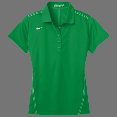 Ladies Dri Fit Sport Swoosh Pique Polo Sew N Stitches Embroidery Llc