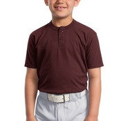 Youth Short Sleeve Henley