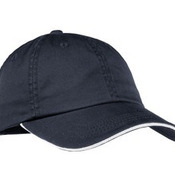 Ladies Sandwich Bill Cap with Striped Closure