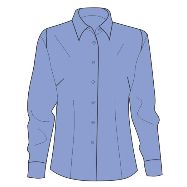 5eaf560e98fd2c Ladies' Long-Sleeve Yarn-Dyed Gingham Check Sew N Stitches ...