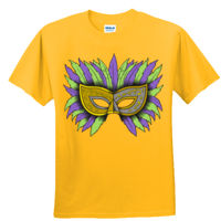 MARDI GRAS FEATHERED MASK - GILDAN DRYBLEND Thumbnail
