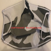 FACEMASK - NON-MEDICAL HOMEMADE MASK - CAMOUFLAGE GRAY BLACK WHITE Thumbnail