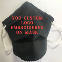 FACE MASK - NON-MEDICAL GRADE HOMEMADE MASK - 2PLY CLOTH WASHABLE - MADE IN USA - PLAIN - BLACK 2 Thumbnail