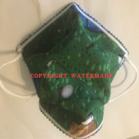 FACEMASK - NON-MEDICAL HOMEMADE MASK -2-PLY CLOTH - WASHABLE- GOLF BAGS AND CLUBS Thumbnail