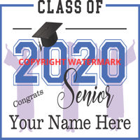 Graduation Sign - Class of 2020 Seniors WITH SILHOUETTES TWO Thumbnail