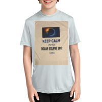Solar Eclipse Keep Calm Youth T-shirt Thumbnail