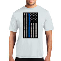 Thin Blue Line Flag Performance Tee - % of proceeds will benefit Backstoppers Thumbnail