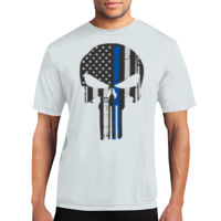 Punisher Thin Blue Line Performance Tee - % of proceeds will benefit Backstoppers Thumbnail