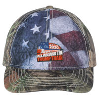 TRUMP TRAIN 2020 - Outdoor Cap - Camo Cap with Flag Sublimated Front Panels - SUS100 Thumbnail