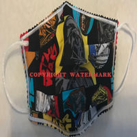 FACEMASK - NON-MEDICAL HOMEMADE MASK -2-PLY CLOTH - WASHABLE- STAR WARS CHARACTERS (Limited Edition)  Thumbnail