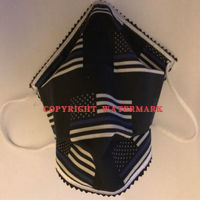 FACE MASK - NON-MEDICAL HOMEMADE MASK -2-PLY CLOTH - WASHABLE- Flag Thin Blue Line Thumbnail