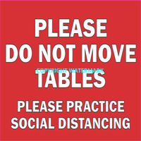 Do Not Move Tables Decal 7