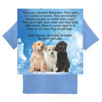 YOUTH Labrador Puppies Equality - Sew N Stitches Youth DryBlend ® 50 Cotton/50 Poly T Shirt Thumbnail