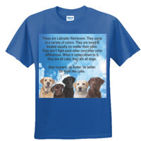 Adult Labrador Dogs -  Sew N Stitches DryBlend ® 50 Cotton/50 Poly T Shirt Thumbnail