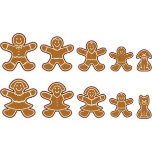 Stick Family Gingerbread Cookies Thumbnail