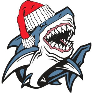 Shark wearing a Santa Hat Thumbnail