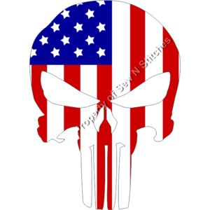 PUNISHER WITH AMERICAN FLAG Thumbnail
